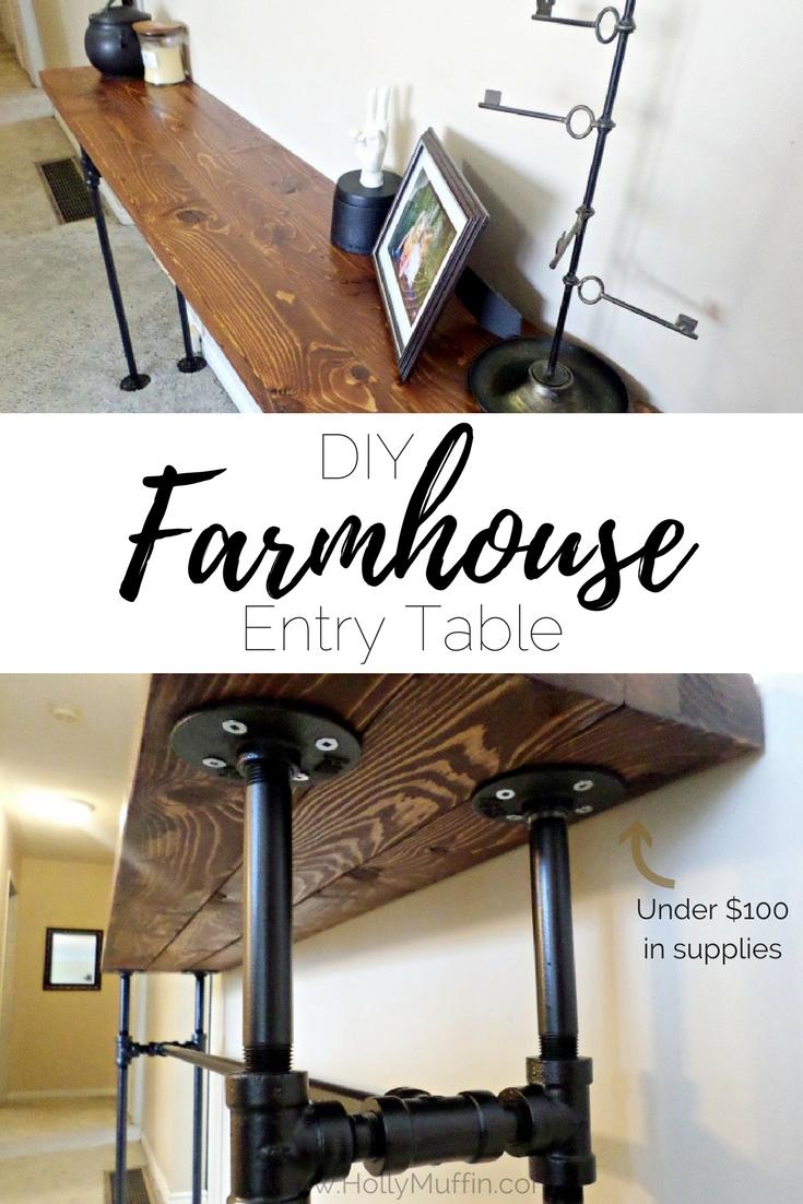 DIY Galvanized Pipe Farmhouse Entry Table - Part 2